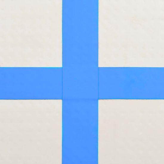 shumee Napihljiva gimnastična podloga s tlačilko 800x100x20 cm modra