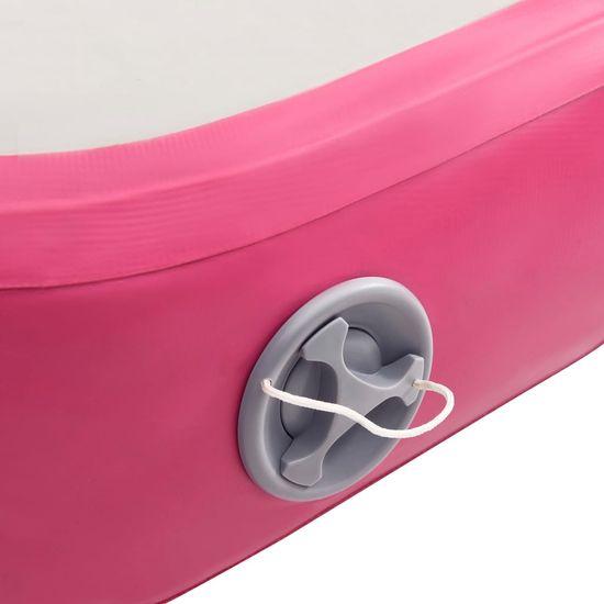shumee Mata gimnastyczna z pompką, 200x200x15 cm, PVC, różowa