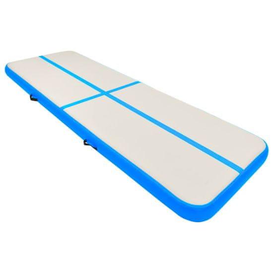 shumee Napihljiva gimnastična podloga s tlačilko 500x100x20 cm modra