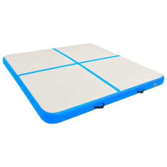 shumee Napihljiva gimnastična podloga s tlačilko 200x200x20 cm modra
