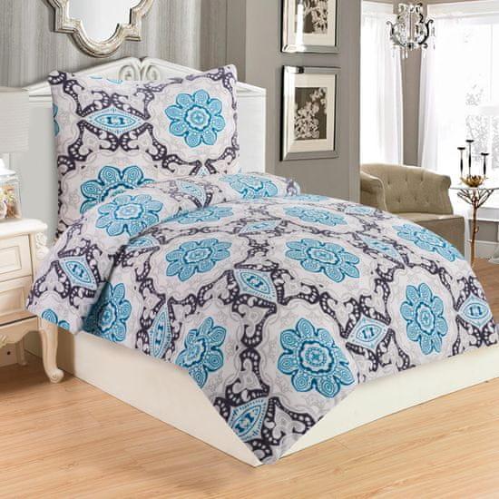 Jahu posteljnina Dona blue, mikropliš, 70x90/140x200 cm
