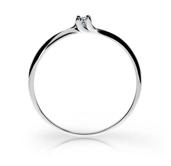 Cutie Jewellery Gyönyörű csillogó gyűrű Z6733-2948-10-X-2 fehér arany 585/1000
