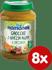 Hamánek Gnocchi s hovädzím mäsom a smotanou 8 x 190 g