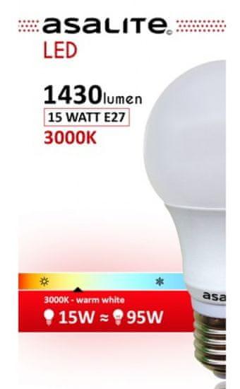 Asalite E27 LED sijalka, 15 W, 3000 K, 1430 lm