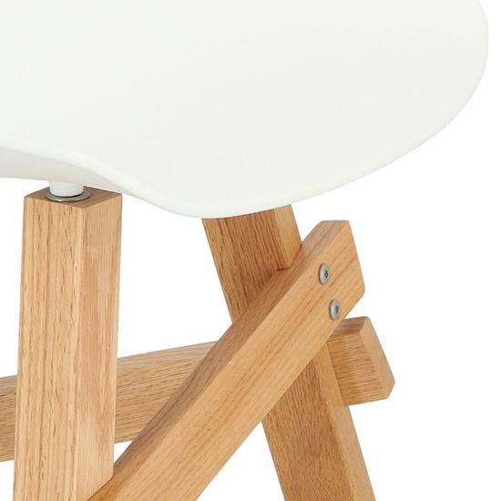 shumee Železniški stol iz belega / hrasta
