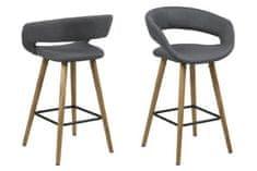 shumee Grace nízká tmavě šedá barová židle