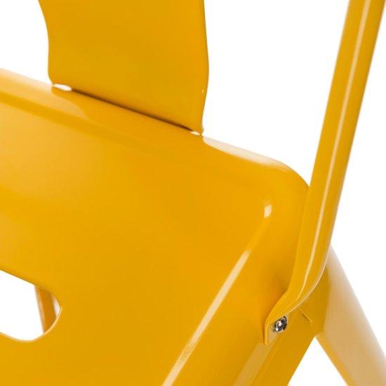 shumee Paris Back Bar Stool Yellow Tolix Inspired