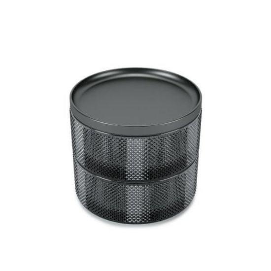 shumee Szkatułka/pojemnik Tesora Glass smoke