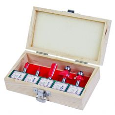 RAIDER rezkar, stebelni, R8mm, 5-delna garnitura, tip B, lesena škatla