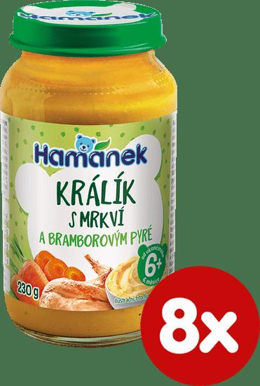 Hamánek Králik s mrkvou a zemiakovým pyré 8 x 230 g