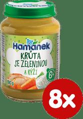 Hamánek Morka so zeleninou a ryžou 8 x 190 g