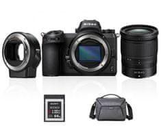 Nikon kit Z6 brezzrcalni fotaparat + objektiv 24-70 mm + FTZ adapter + XQD kartica, 64GB + torba