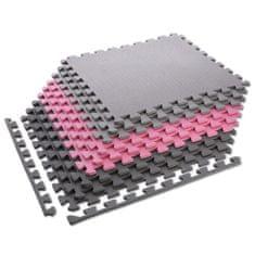 ONE Fitness ochranná puzzle podložka MP10 ružovo-šedá