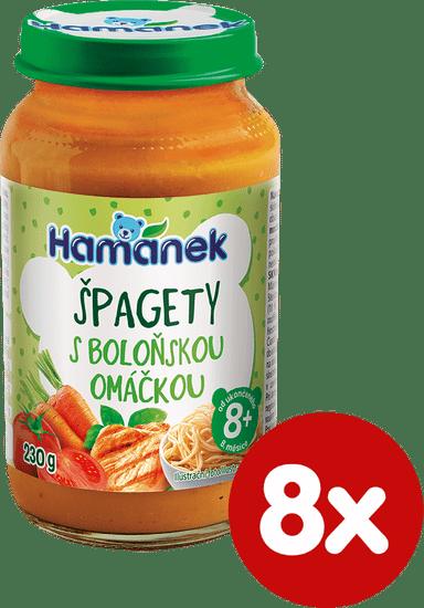 Hamánek Špagety s boloňskou omáčkou 8 x 230 g