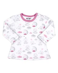 Nini dívčí tričko z organické bavlny ABN-2301 bílá 86