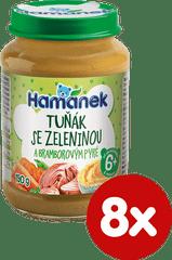 Hamánek Tuniak so zeleninou a zemiakovým pyré 8x 190g