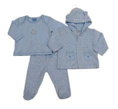 Just Too Cute Komplet kojenecký velur – hvězdičky – modrý modrá 62