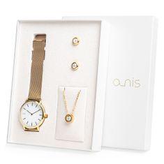 A-NIS dámský dárkový set hodinek, náhrdelníku a náušnic AS100-16