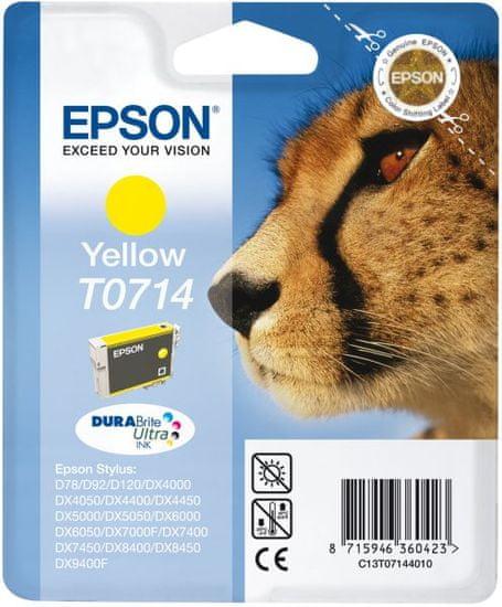 Epson tinta T0714, žuta (C13T07144012)