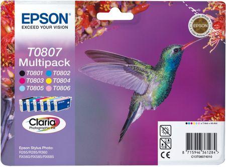 Epson zestaw tuszy T0807 - CLARIA Multipack (C13T08074011)