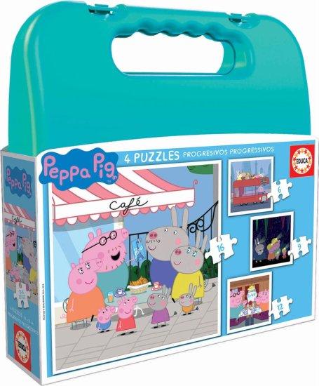 Educa sestavljanka v kovčku Peppa Pig , 6, 9, 12, 16 kosov