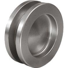 KWS Mušle pro posuvné dveře ø 65 mm, šroubovací, hliník nerez efekt
