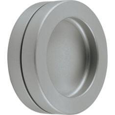 KWS Mušlové madlo pro posuvné dveře ø 65 mm, samolepící, hliník, nerez efekt