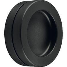 KWS Mušlové madlo pro posuvné dveře ø 65 mm, samolepící, hliník, černý matný