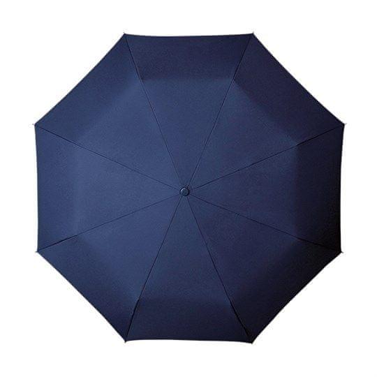 Ženski zložljivi dežnik - temno moder