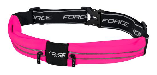 Force Opasek běžecký POUCH - růžový