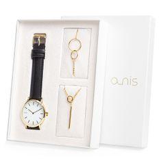 A-NIS dámský dárkový set hodinek, náhrdelníku a náramku AS100-17