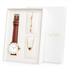 A-NIS dámský dárkový set hodinek, náhrdelníku a náramku AS100-18