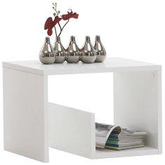 FMD Konferenční stolek 2-v-1 59,1 x 35,8 x 37,8 cm bílý