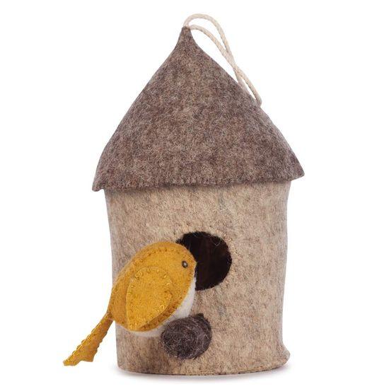 Kidsdepot otroška dekoracija sten - BIRDBOX yellow