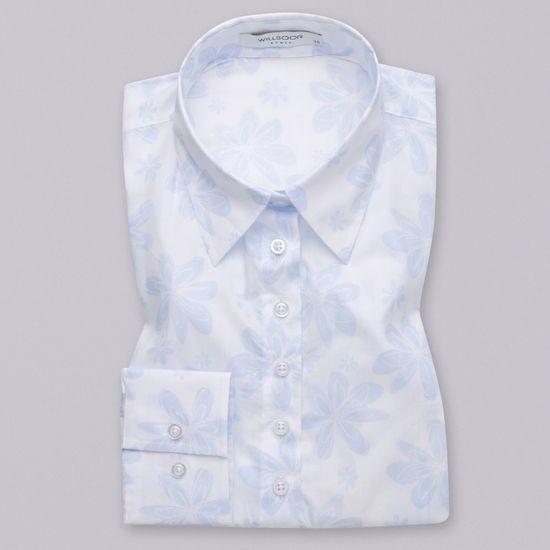 Willsoor Dámská košile s bledě modrým květinovým vzorem 12078