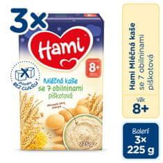 Hami mliečna kaša so 7 obilninami piškótová na dobrú noc 3x 225 g
