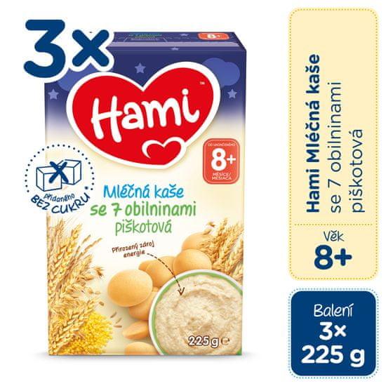 Hami mléčná kaše se 7 obilninami piškotová na dobrou noc 3x 225 g