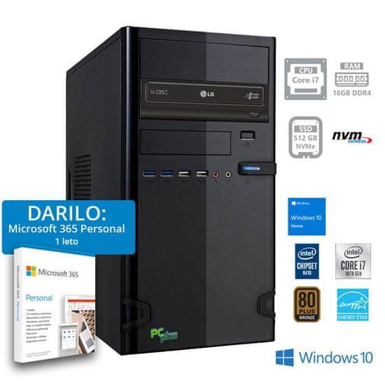PCplus e-office namizni računalnik + DARILO: 1 leto Microsoft 365 Personal (141123)