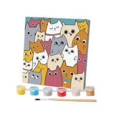 Kraftika Obrázek podle čísel - roztomilá koťata, rozměry 15 x 15 cm