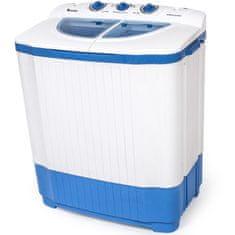 tectake Mini pračka malá 4,5kg ždímačka 3,5kg - bílá