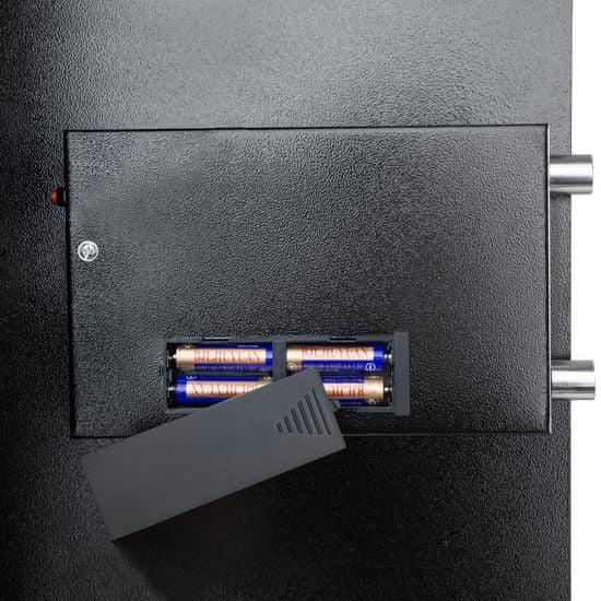 tectake Digitální trezor M2 - černá