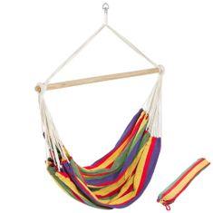 tectake Závěsné křeslo s přenosnou taškou - barevná