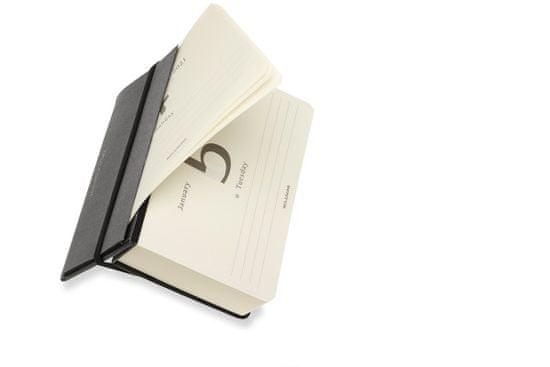 Moleskine planer 2021, 12-mesečni, dnevni, žepni, črn, namizni koledar - Odprta embalaža