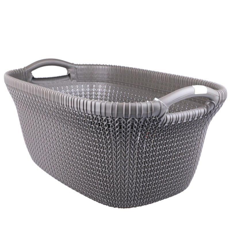 Curver Koš na prádlo Knit 40 l šedý
