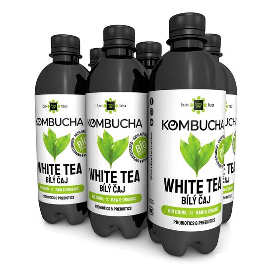 LONG LIFE BIOTEA Kombucha Bílý Čaj 0.5l - 6ks