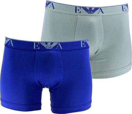 Emporio Armani Boxerky Emporio Armani 2 pack - modrá, šedé - L