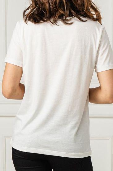 Emporio Armani Dámské tričko Emporio Armani bílé s velkým logem - XS