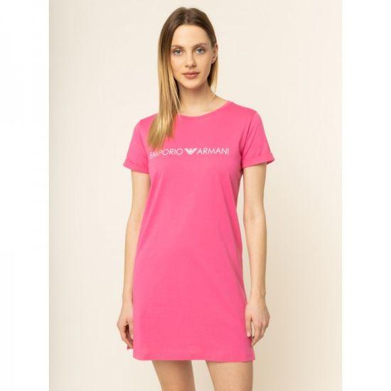 Emporio Armani Krátké růžové dámské šaty Emporio Armani - XS