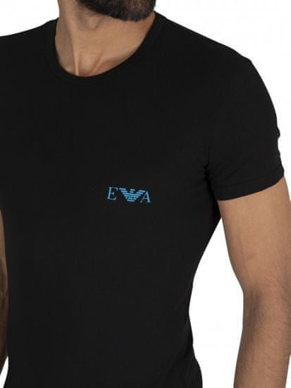 Emporio Armani Pánské trička Emporio Armani Underwear 2 pack černé - S