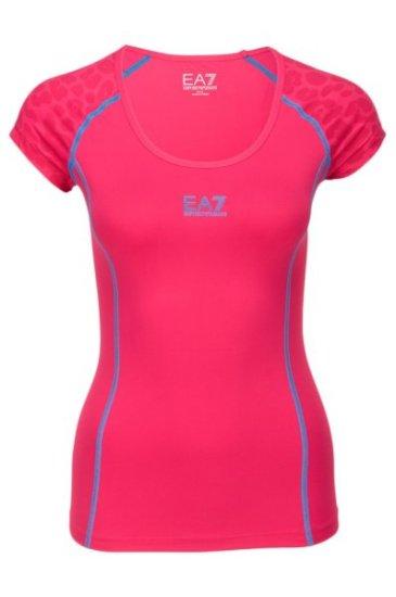 Emporio Armani Dámské sportovní tričko Emporio Armani růžové - XS